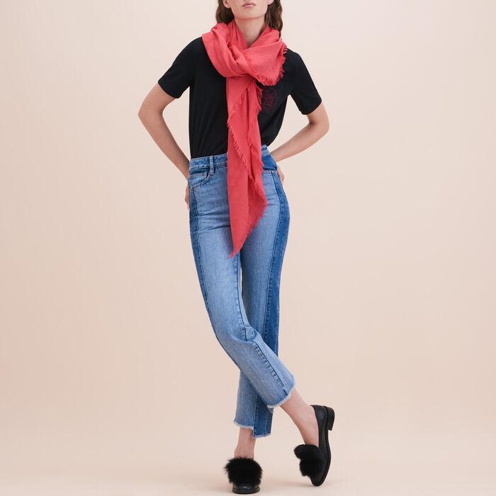 Cotton blend  shawl - Pre-collection - MAJE