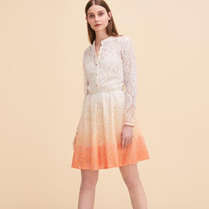 Lace puffball dress -  - MAJE