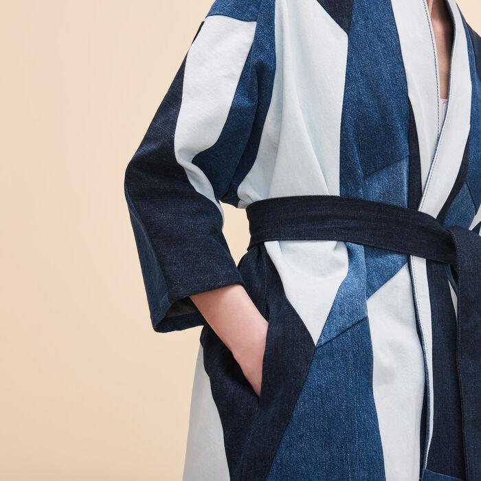 Patchwork denim jacket - Blazers - MAJE