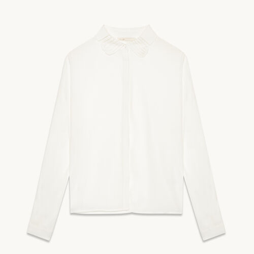 Silk blend shirt - Tops - MAJE
