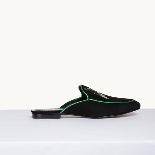 Velvet slipper - Shoes - MAJE