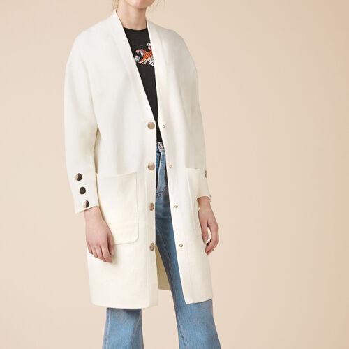 Long locknit cardigan - Knitwear - MAJE