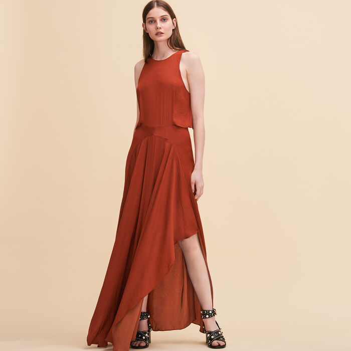 Long sleeveless dress -  - MAJE