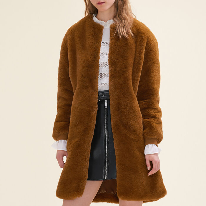 Faux fur coat -  - MAJE