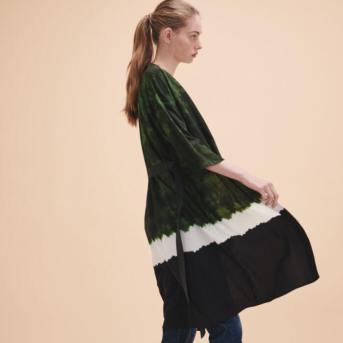 Tie-dye print kimono jacket -  - MAJE