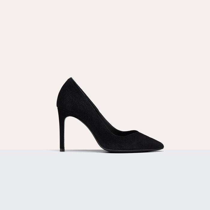 High-heeled suede court shoes -  - MAJE
