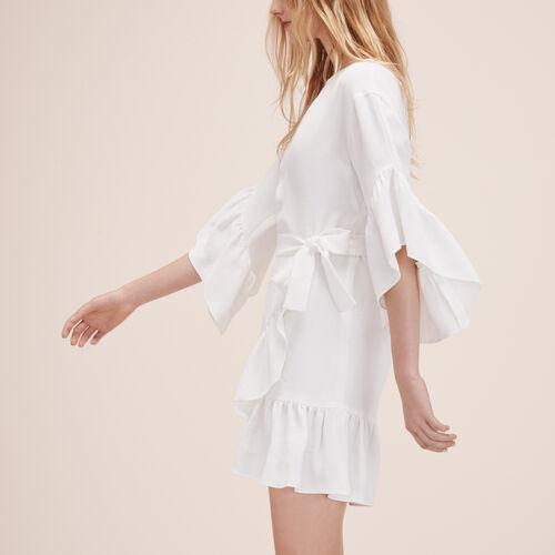 Short dress with frills - Dresses - MAJE
