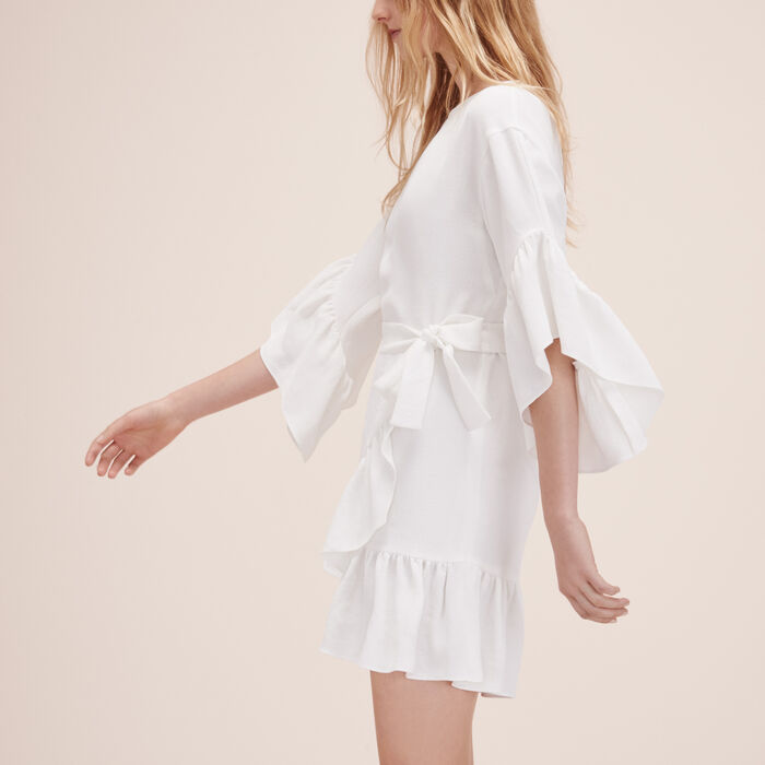 Short dress with frills -  - MAJE