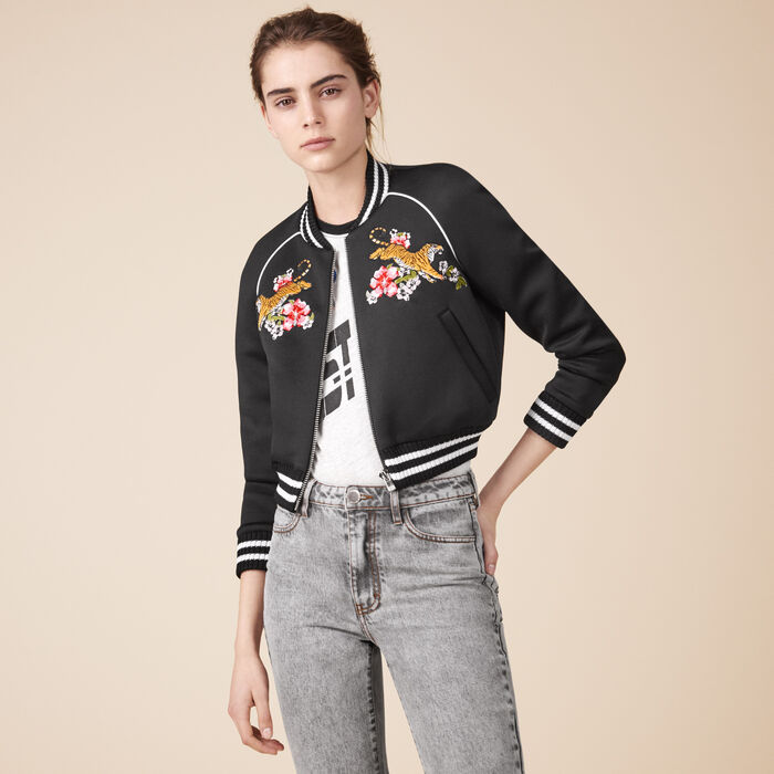 Embroidered bomber jacket -  - MAJE