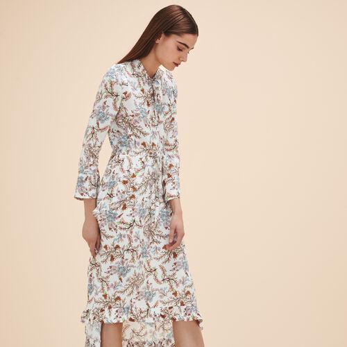 Long printed dress - Dresses - MAJE