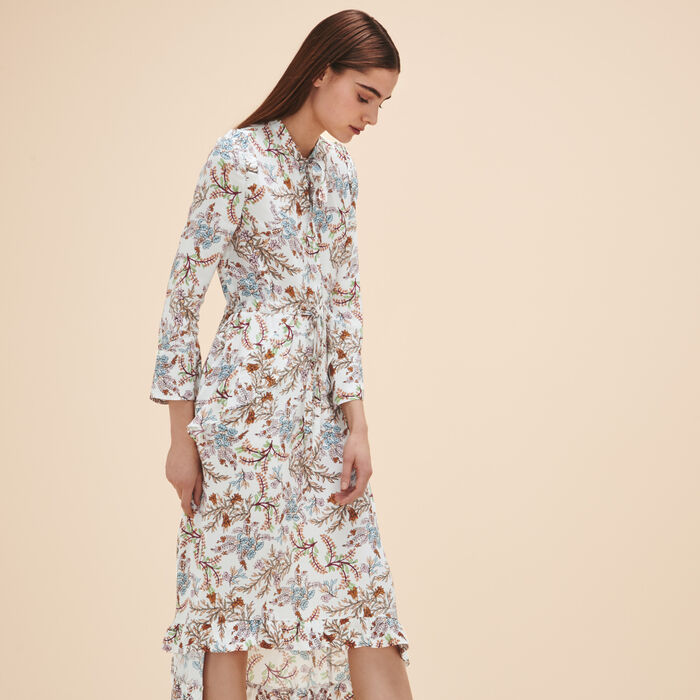 Long printed dress -  - MAJE