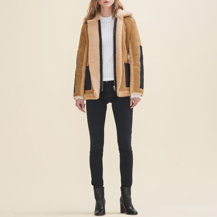 Sheepskin coat - Coats - MAJE