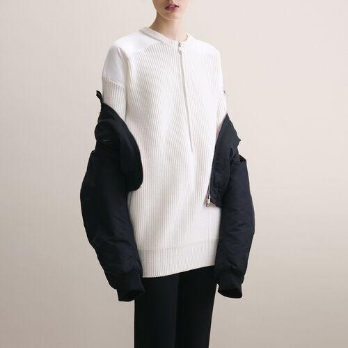 Dress with nylon inserts - Maje x Schott - MAJE