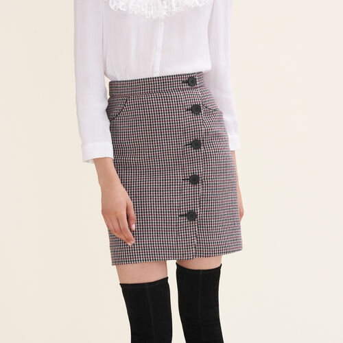 Houndstooth check short skirt - Skirts & Shorts - MAJE