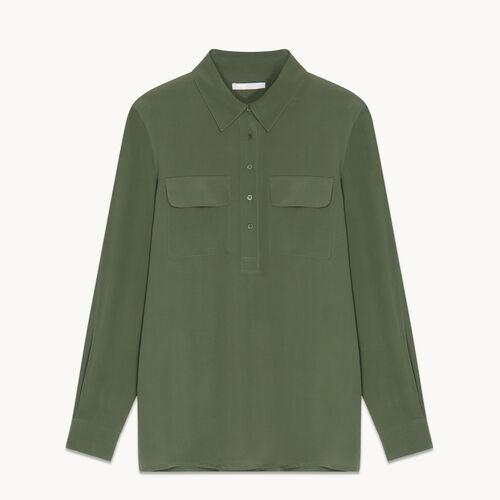 Silk blouse - Tops - MAJE