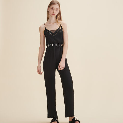 Crepe jumpsuit - Trousers - MAJE