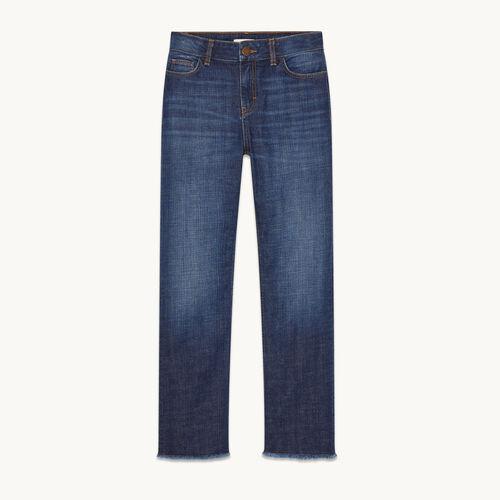 Stretch cotton straight jeans - Jeans - MAJE