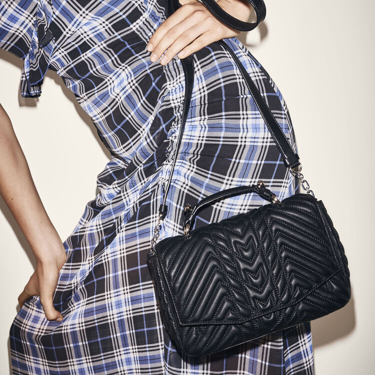 Mini satchel in quilted leather -  - MAJE
