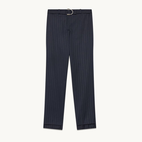 Tailored trousers with tennis stripes - Trousers - MAJE