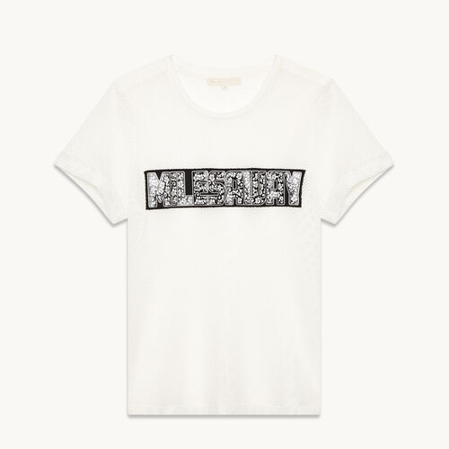 Mesh T-shirt - Tops - MAJE