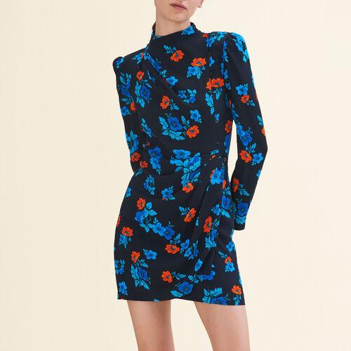 Printed wrapover dress - Dresses - MAJE