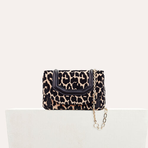 Leopard print evening bag - Shoulder bag - MAJE