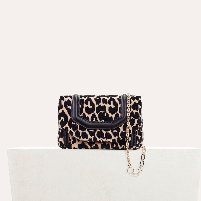 Leopard print evening bag -  - MAJE