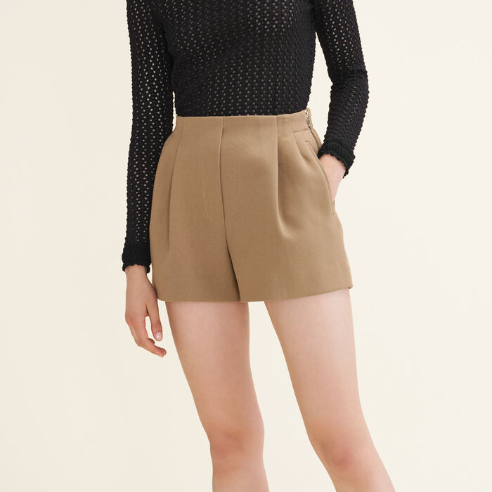 Cotton blend shorts -  - MAJE
