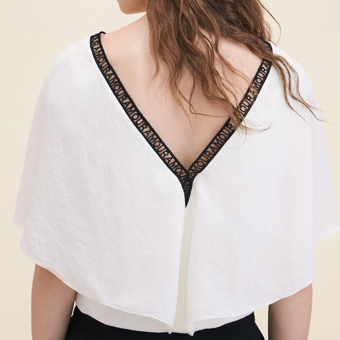 Loose crêpe top - Tops - MAJE