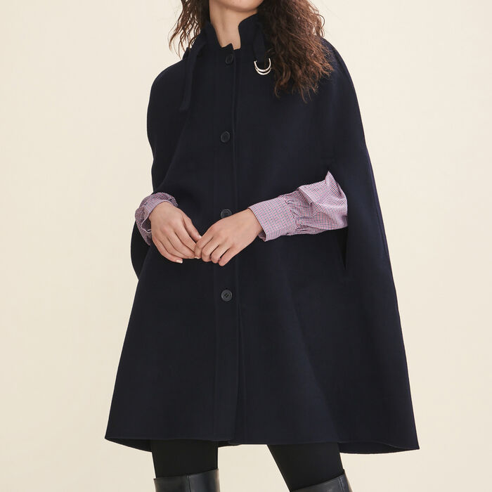 Double-sided wool cape -  - MAJE