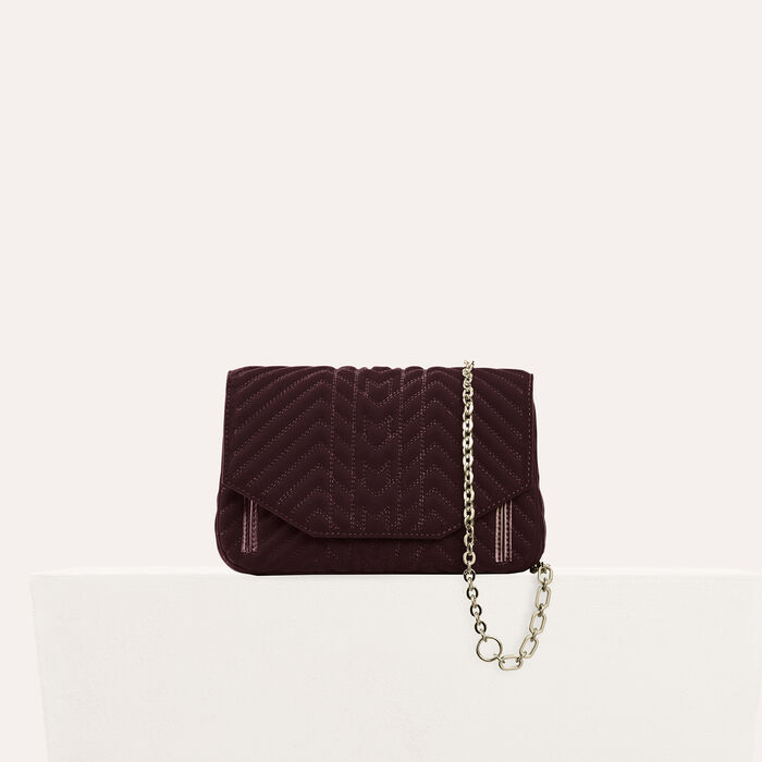 Quilted velvet evening bag -  - MAJE