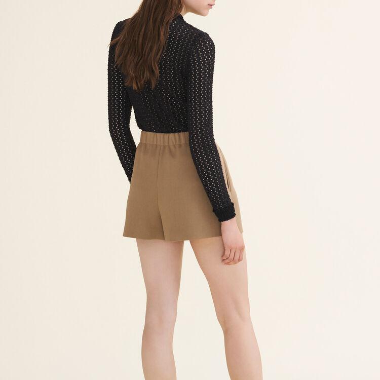Cotton blend shorts - Skirts & Shorts - MAJE