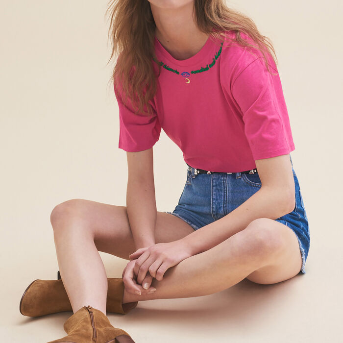 Embroidered T-shirt Friday -  - MAJE