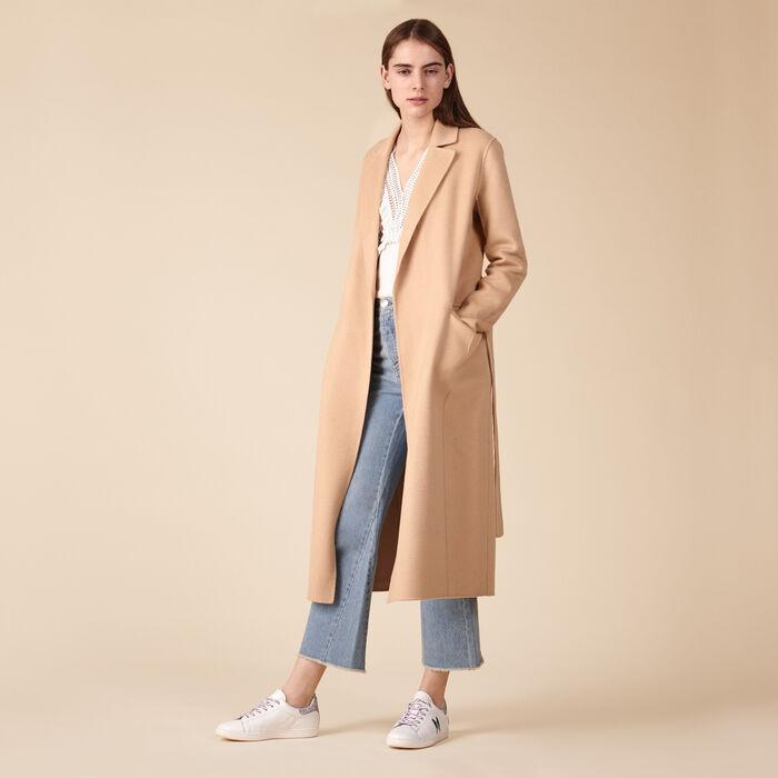 Wool-blend coat -  - MAJE