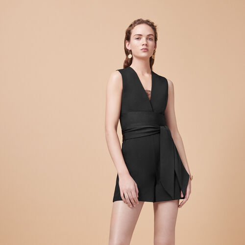 Sleeveless playsuit - Skirts & Shorts - MAJE