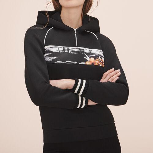 Hooded sweatshirt - Knitwear - MAJE