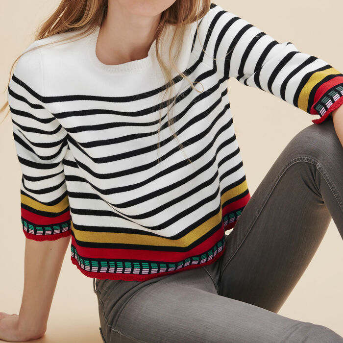 Breton jumper with embroidery -  - MAJE