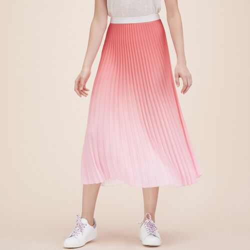 Pleated tie-dye midi skirt - See all - MAJE