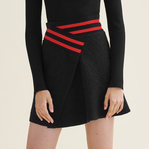 Asymmetric tweed skirt - Skirts & Shorts - MAJE