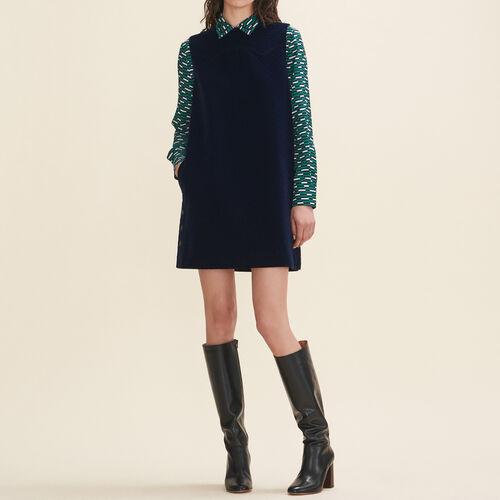 Velvet A-line dress - Dresses - MAJE