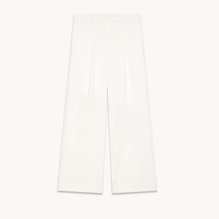 Wide trousers with darts - Trousers - MAJE