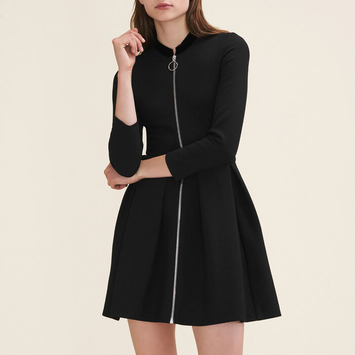 Zipped dress -  - MAJE