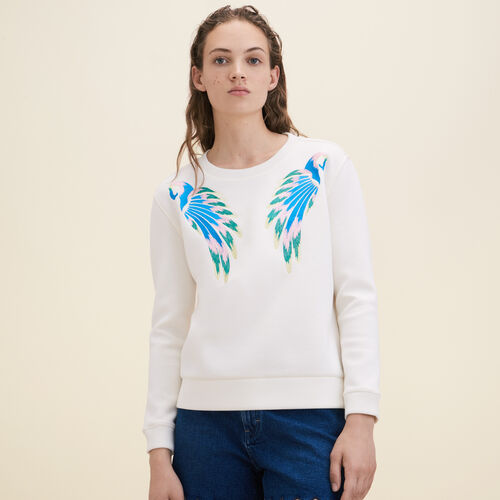 Embroidered sweatshirt - Knitwear - MAJE