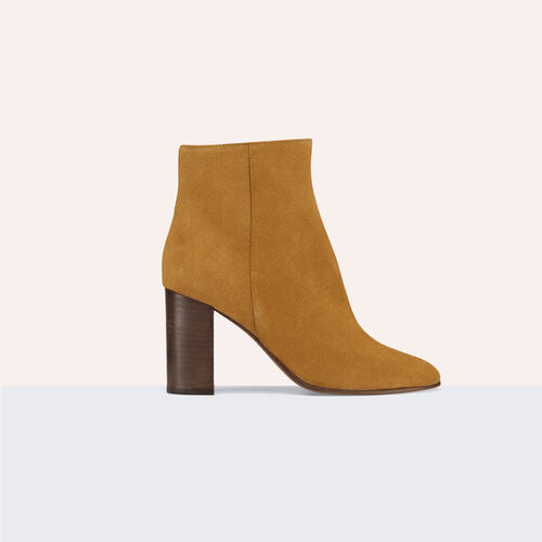 Suede leather ankle boots - Shoes - MAJE