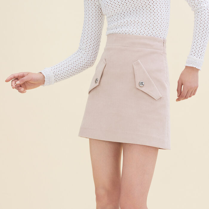 Short velvet skirt -  - MAJE
