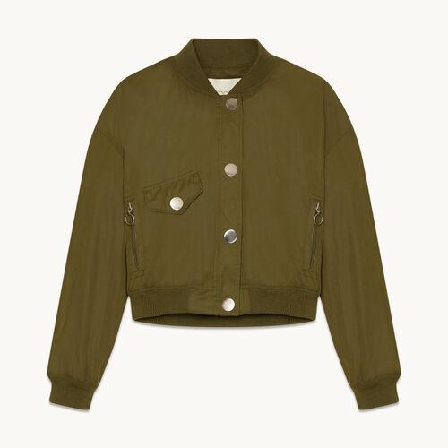 Cropped bomber jacket - Jackets & Bombers - MAJE