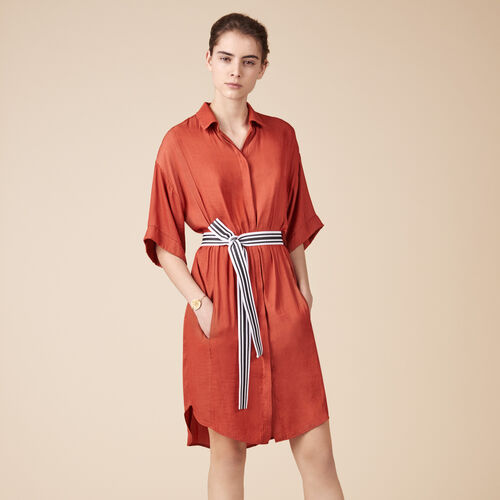 Floaty shirt dress - Best Sellers - MAJE