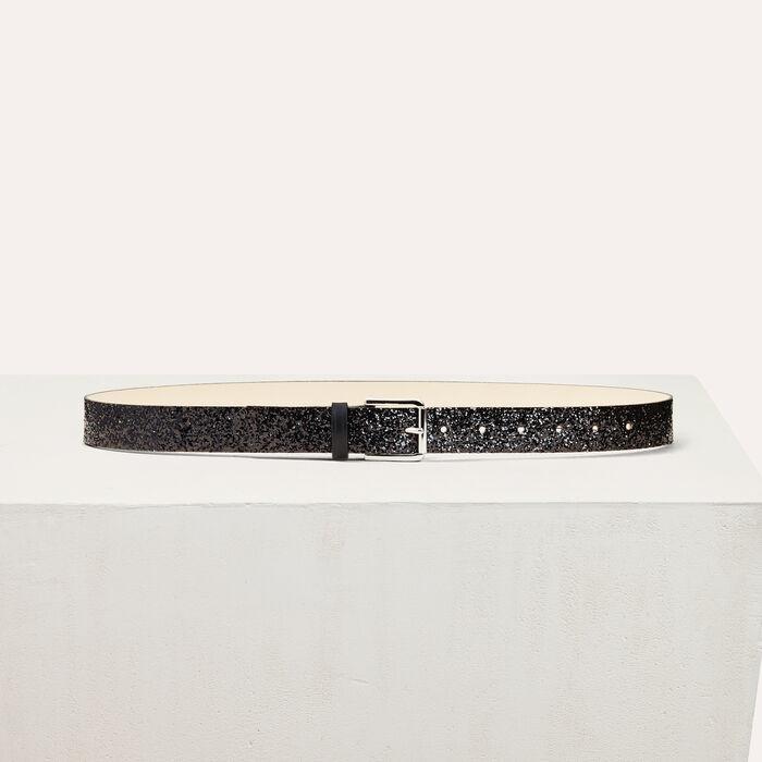 Sequinned belt -  - MAJE