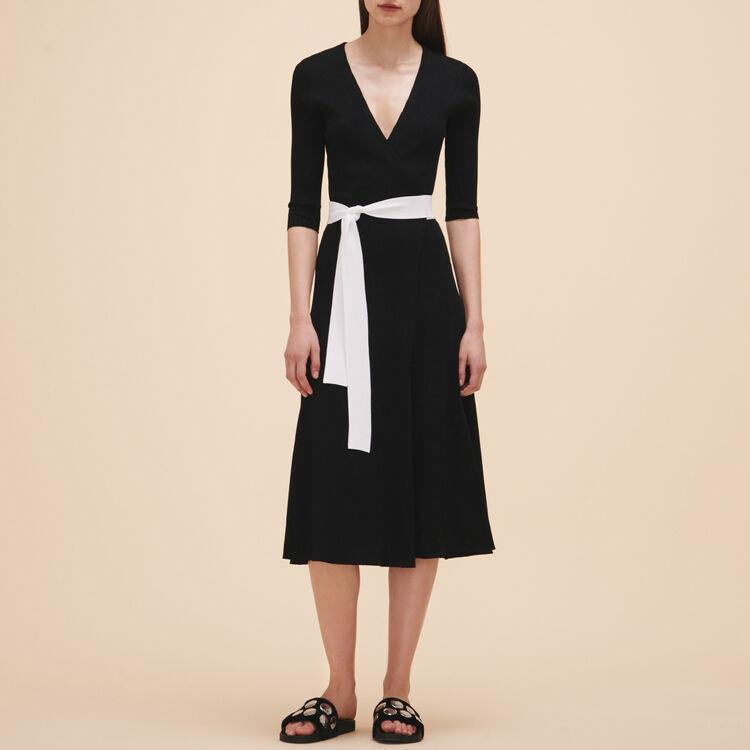 Long knitted dress - Dresses - MAJE