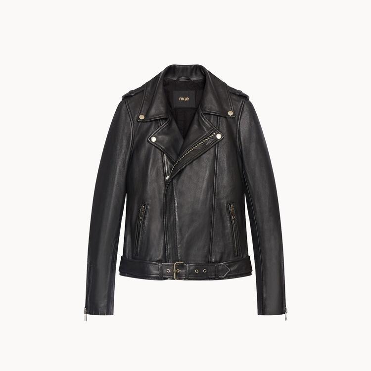 Lambskin bubble leather jacket - Jackets & Bombers - MAJE